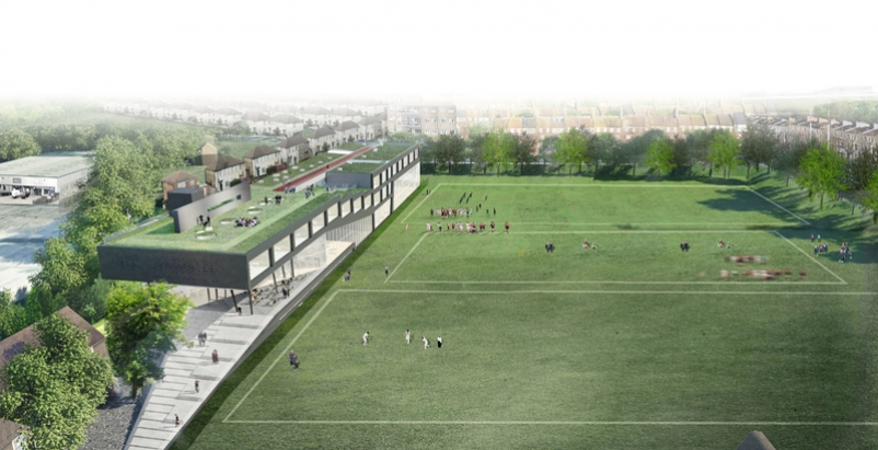 Oma Designs Terraced Sports Center For Uk S Brighton