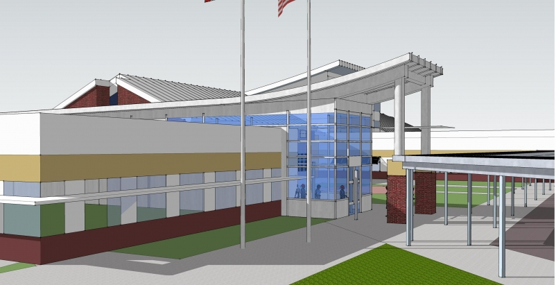 The new construction will consist of exceptionally efficient exterior building e