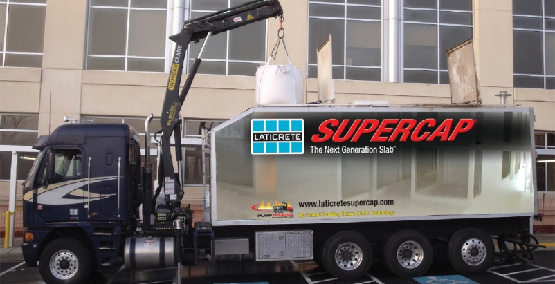 Laticrete introduced their Supercap Pump Truck, a mobile blending unit that can