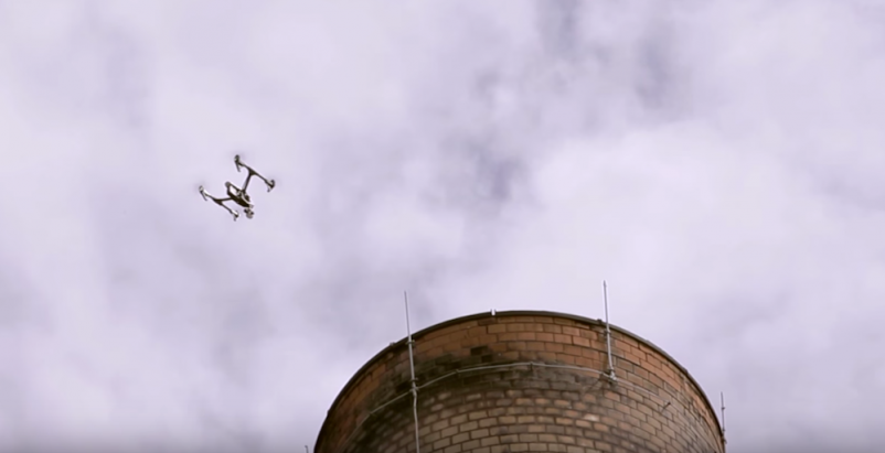 VIDEO: See how Wiss, Janney, Elstner engineers use drones to perform building inspections