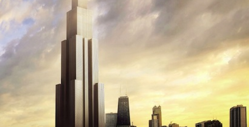 Sky City, Changsha. Rendering courtesy of Broad Sustainable Building