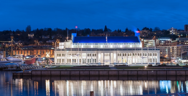 The 73-year-old Naval Reserve Armory building on Seattles South Lake Union dock
