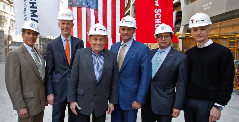 From left to right: Jody Durst, David Van Zandt, John Tishman, Daniel Tishman, D