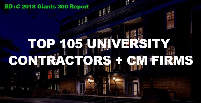 Top 105 University Contractors + CM Firms [2018 Giants 300 Report]