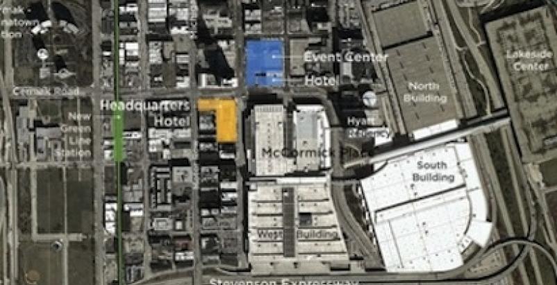 The McCormick district plan, courtesy TVS Design