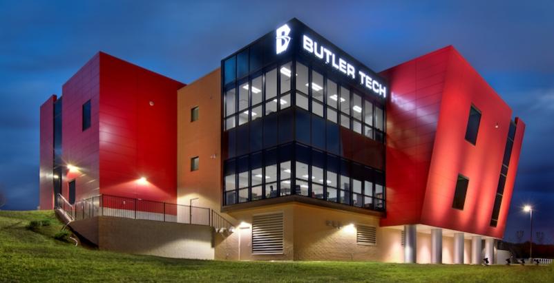 The exterior of a Butler Tech building