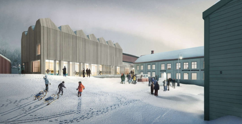 Henning Larsen Architects designs a timber museum extension in Sweden
