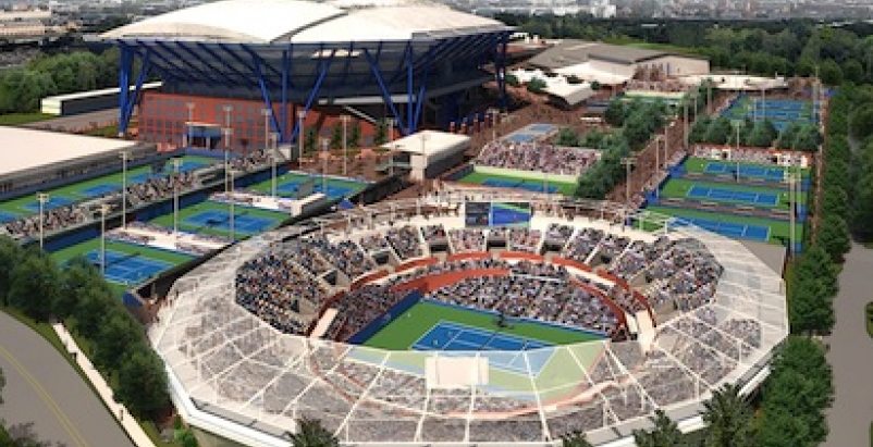 Upgrades to the Billie Jean King National Tennis Center will include the constru