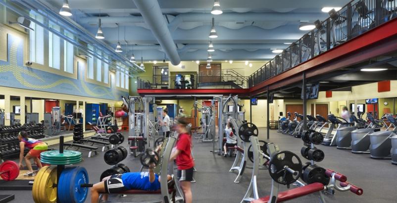 The $3.4 million Gulati Complex includes a 5,000-sf fitness center.