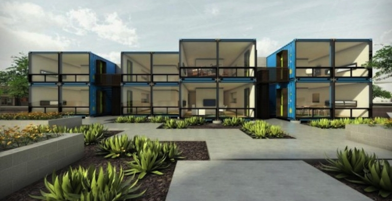 Containers on Grand: A new apartment complex in Phoenix
