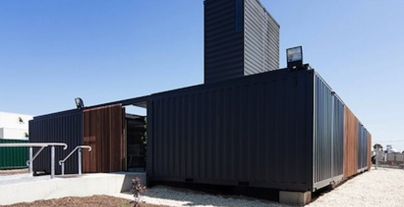 Australian Project Transforms Shipping Containers Into Serene Workplace Bui