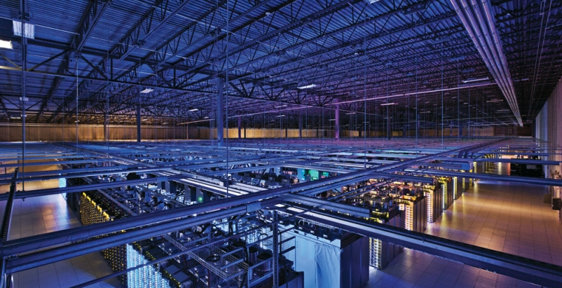 Googles data centers include this massive server room in Council Bluffs, Iowa.