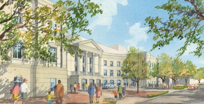 The Gaillard Center project includes the addition of a 1,800 seat multi-purpose