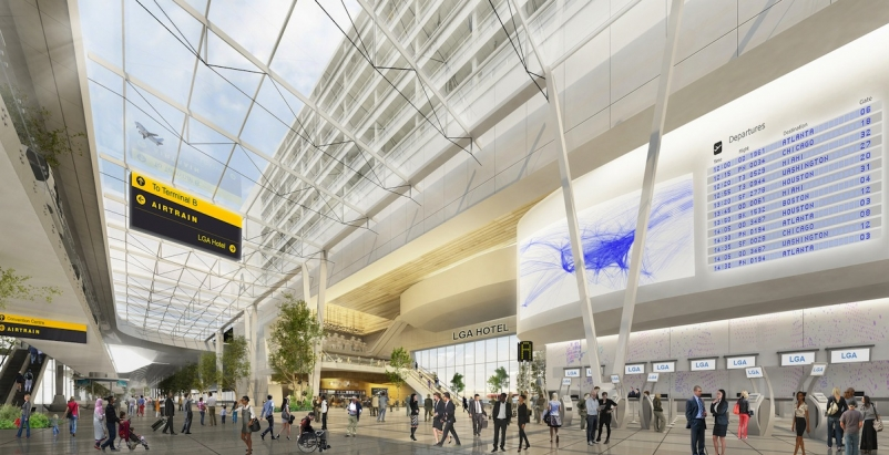 Plans to make over New York's aging LaGuardia Airport are revealed