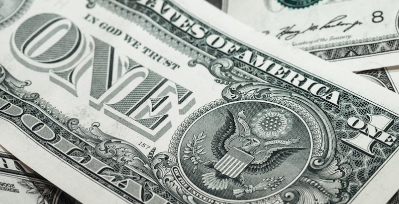 A closeup of a dollar bill