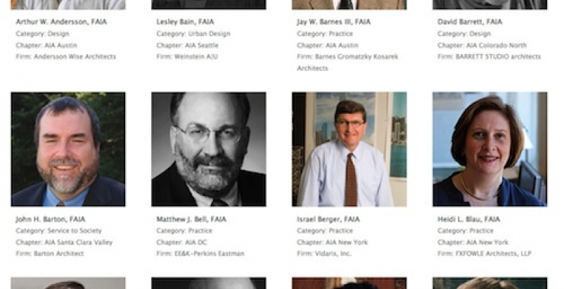 AIA elevates 122 members and seven international architects to the College of Fe