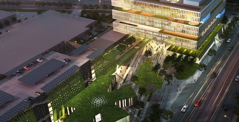 Green roofs will be a hallmark of Samsung's Silicon Valley complex.