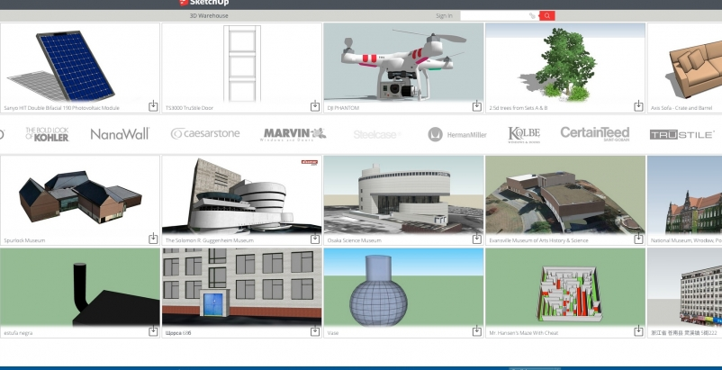 SketchUp 2014 features major enhancements to SketchUps 3-D Warehouse, the world