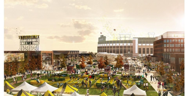 Green Bay Packers to start construction on a business district near Lambeau Field this fall
