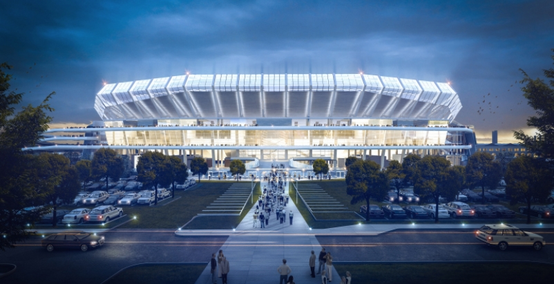Proposed Stadium For Nfl S St Louis Rams Offers More Than