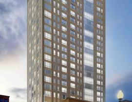 The Kensington, a 27-story, 488,000-sf, mixed-use, residential building in Bosto