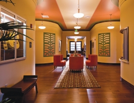 The current Ka Makani Community Center lobby entry following rehabilitation.
