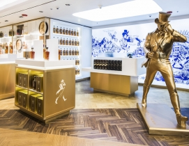 The Johnnie Walker Striding Man statue