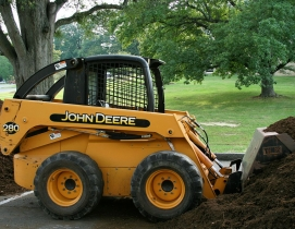 Skid steers are susceptible to theft construction site lojack