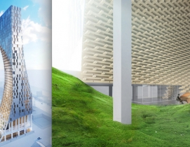 Kengo Kuma proposes 'carved tower' for downtown Vancouver