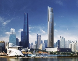 The Guangzhou CTF Finance Centre, now under construction, will be 530 meters tal