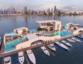 Breakwater Chicago releases renderings of floating Lake Michigan resort