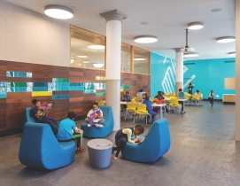 The after school program in the new clubhouse
