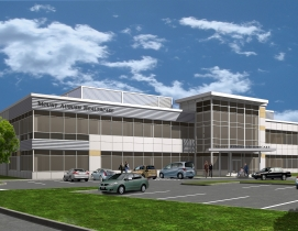 The new 28,000-sf Mount Auburn Healthcare Facility located in Waltham, Mass. is