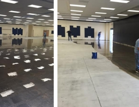 Suburban L.A. high school battles moisture-soaked flooring
