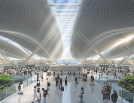 Passenger terminal at Hong Kong
