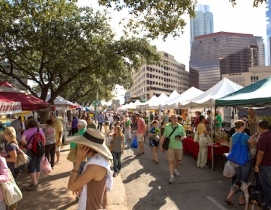 Farmers' markets, like this one in Austin, Texas, are prized features of the urb