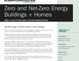 BD+C's 2011 White Paper: Zero and Net-Zero Energy Buildings + Homes