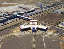Skybridge connects a terminal and airport on each side of the U.S.-Mexico border