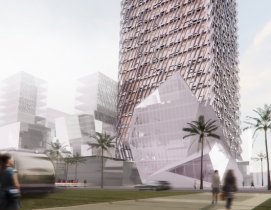 Morphosis Architects designs crowned tower for Casablanca Finance City