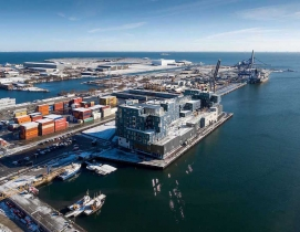 An aerial view of CIS Nordhavn
