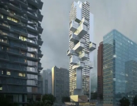 A 'stacked box' skyscraper proposed for Vancouver