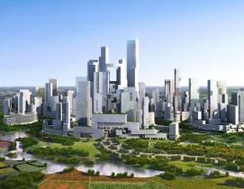 The Great City development near Chengdu will prohibit cars. Courtesy Adrian Smit