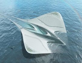 Architect Jacques Rougerie envisions floating city to function as roving laboratory