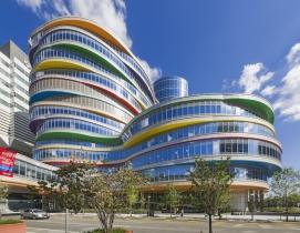 A colorful building
