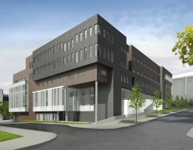 The new 200,000-sf Dineen Hall, Syracuse University College of Law.