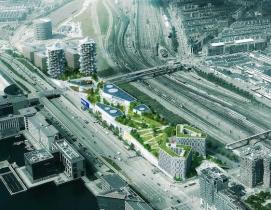 An aerial view of the new Copenhagen IKEA masterplan