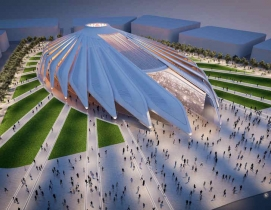 Santiago Calatrava designs falcon pavilion for UAE at Dubai Expo