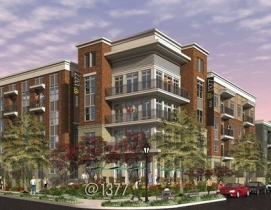 Atlanta's @1377 complex will feature brick cladding and stucco accents.