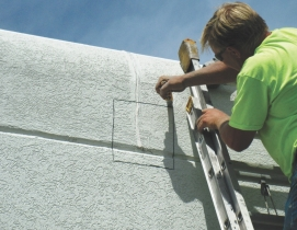 Invasive probes, including test cuts of existing EIFS cladding, can uncover hidd