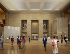 Lenfest Hall, one of the museum's two principal public entrance spaces, will be